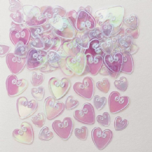 Embossed Iridescent Hearts Table Confetti (14g) 1PK